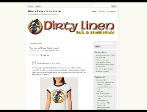Dirty Linen Newsfeed